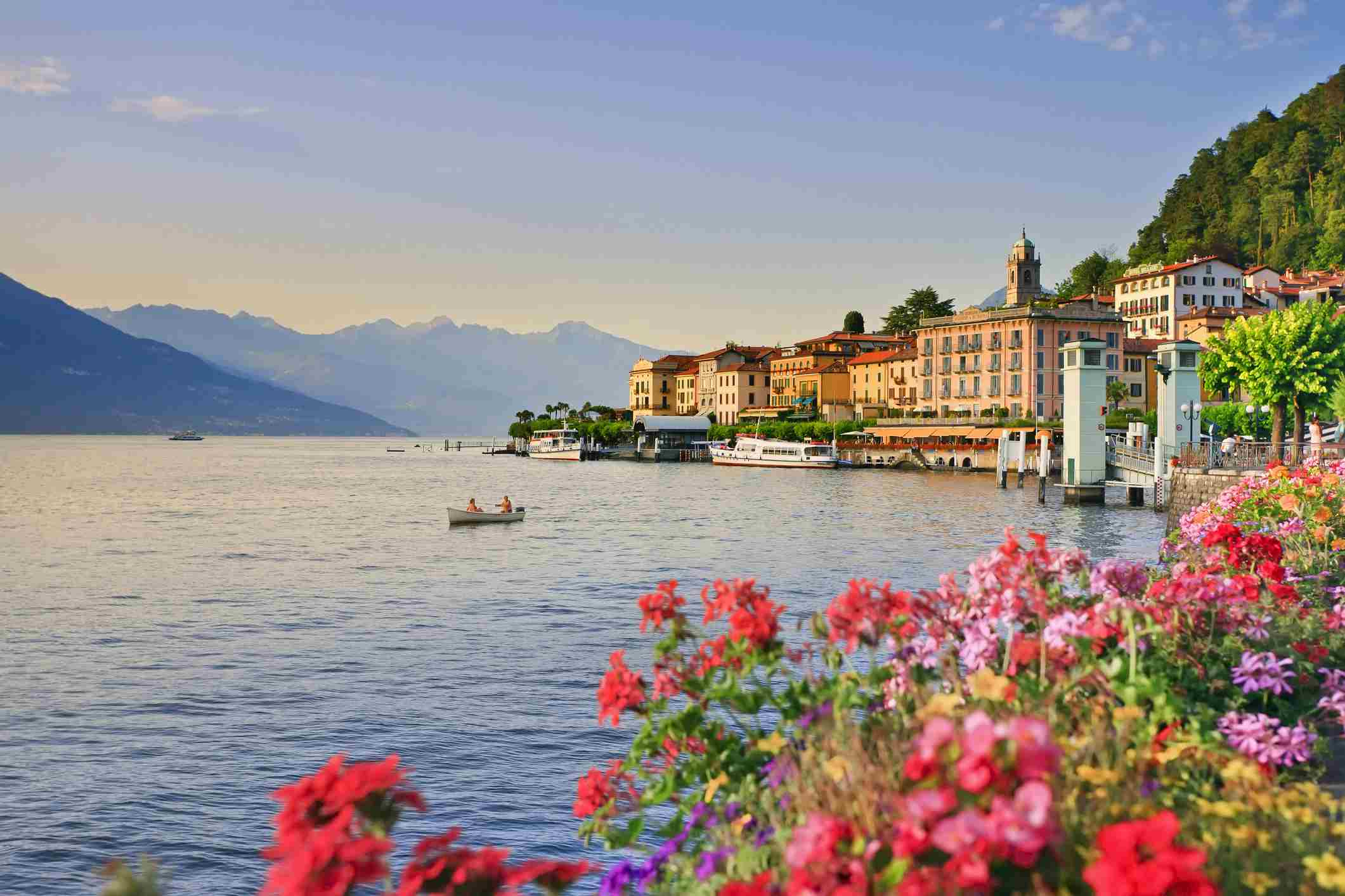 Italy, Lombardy, Como district. Como Lake, View of Bellagio