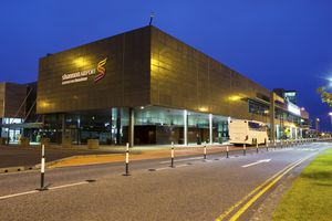 Shannon Airport Terminal at night