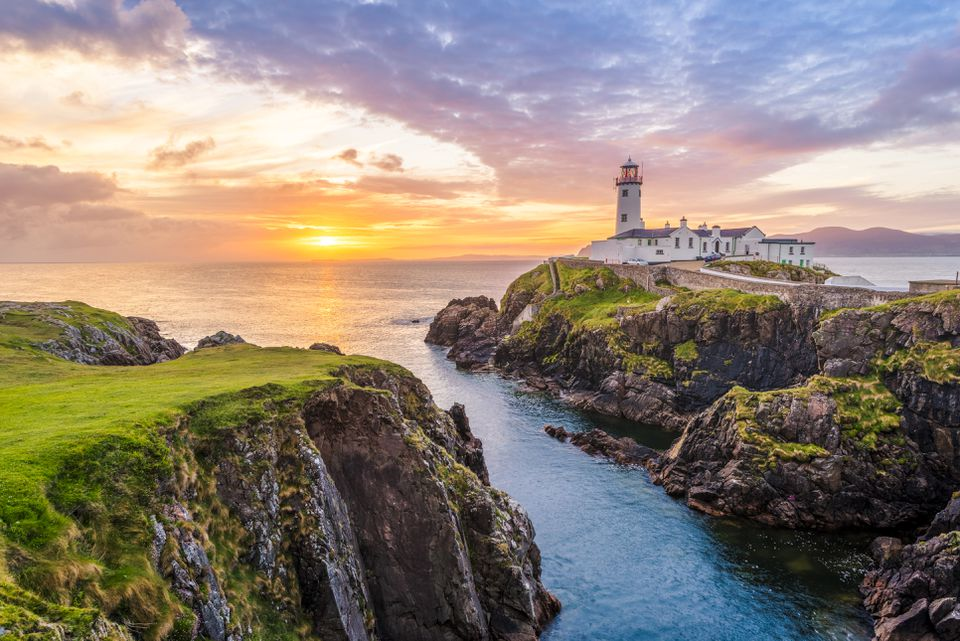Faro de Fanad Head. Co. Donegal, Irlanda.