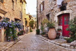 Old french village street