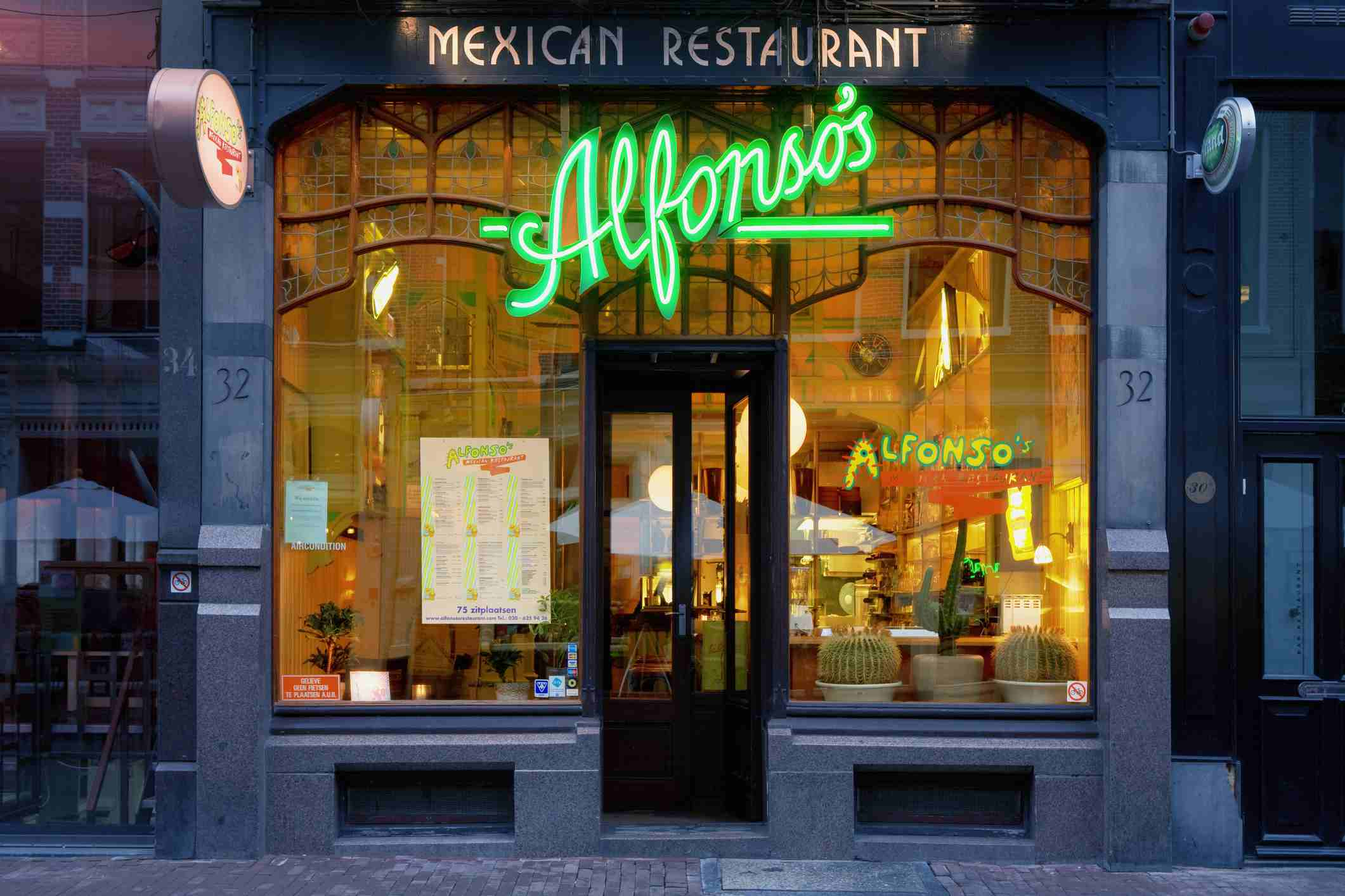 Restaurante mexicano en Utrechstraat.