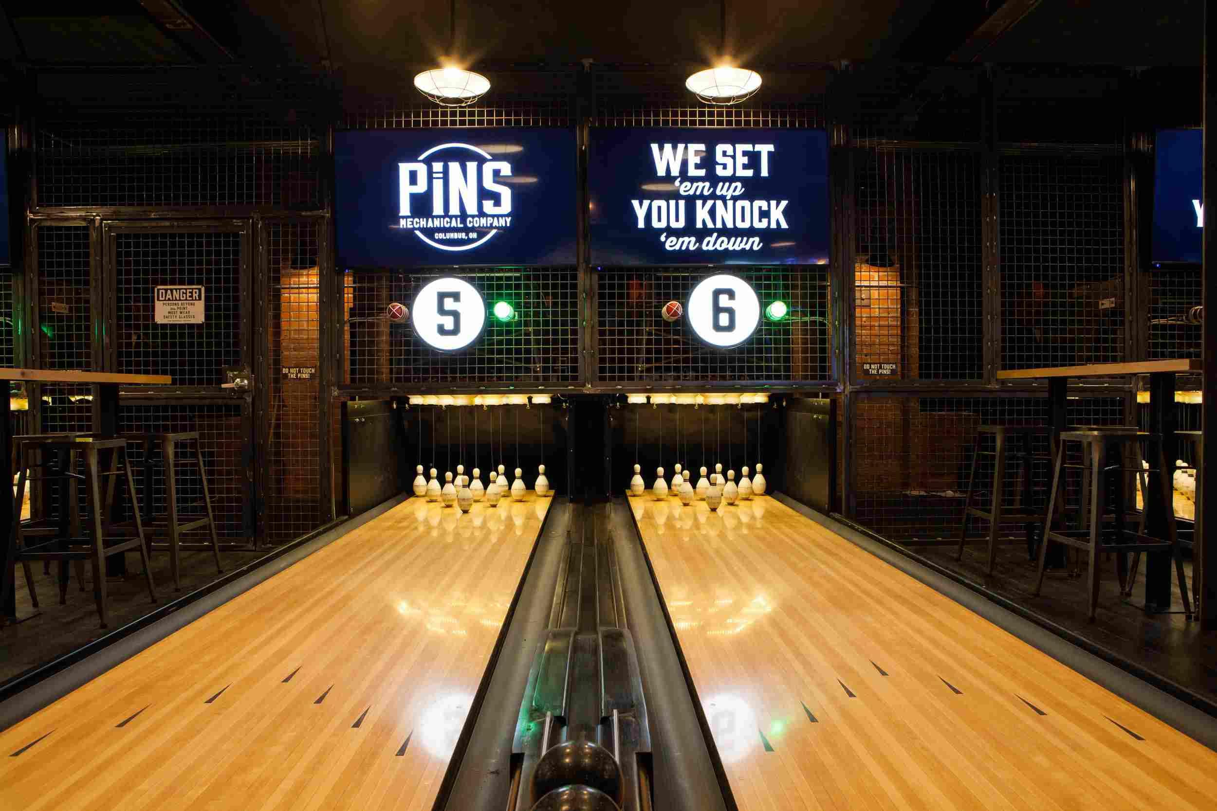 Duckpin Bowling at Pins Mechanical Company