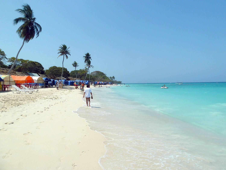 Playa Blanca on Isla Baru outside of Cartagena, Colombia.
