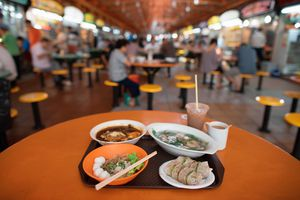 Hawker center food in Singapore