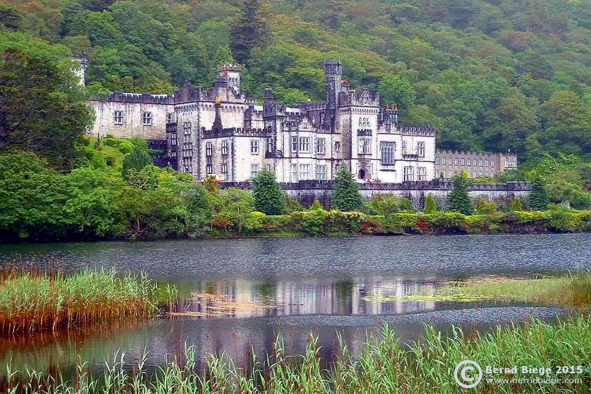 Kylemore Abbey from across the lake - maybe the best way to take the whole complex in.