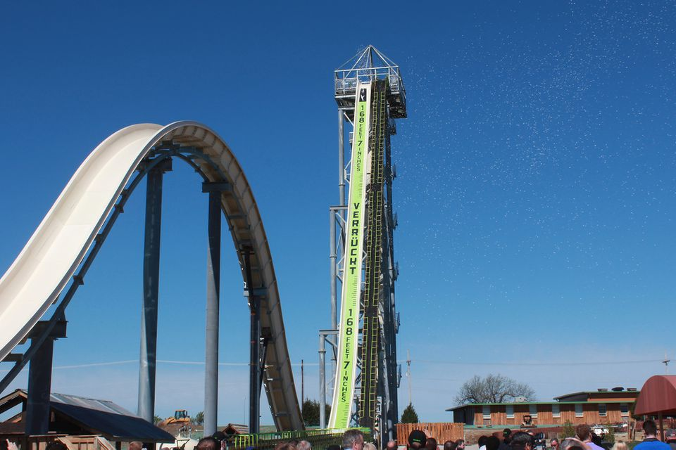 Verruckt world's tallest water slide.