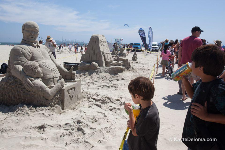 Concurso de escultura de arena de Long Beach