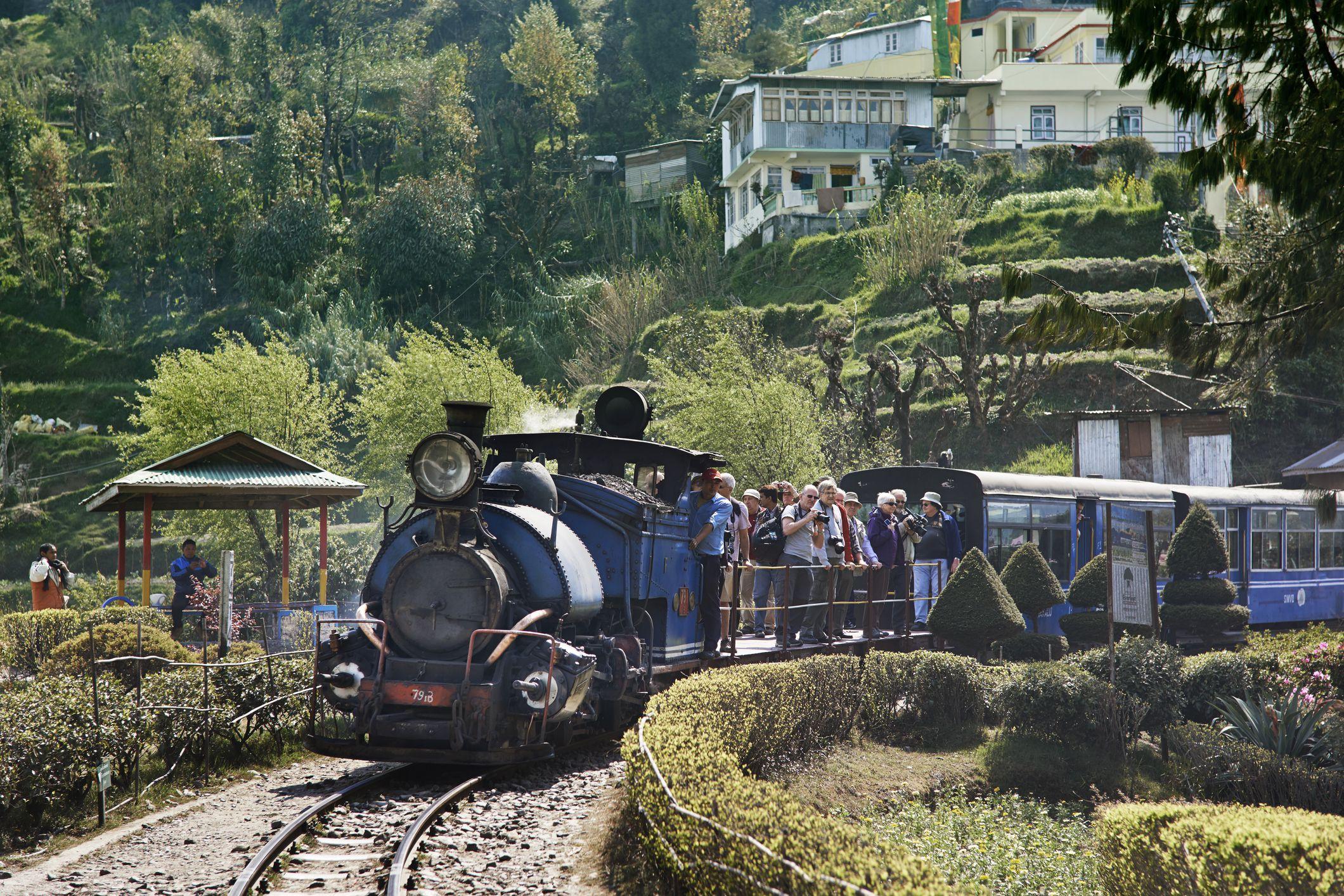 Steam Train enthusiasts on the Darjeeling Toy Trai