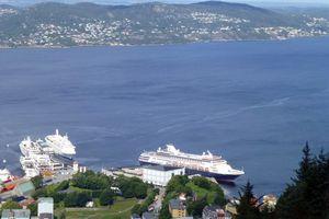 Holland America Maasdam at the dock in Bergen, Norway