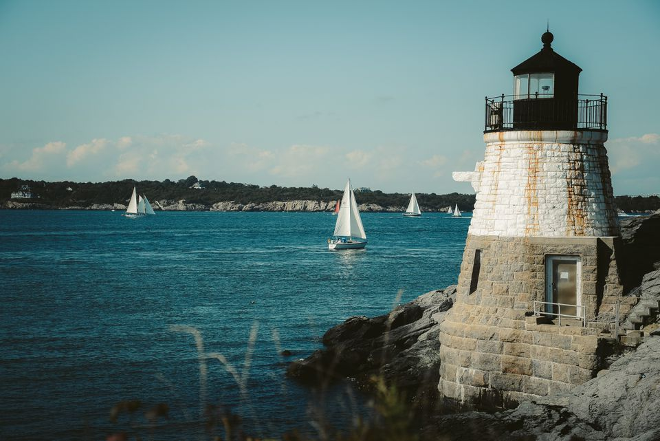 Castle Hill Lighthouse in Rhode Island