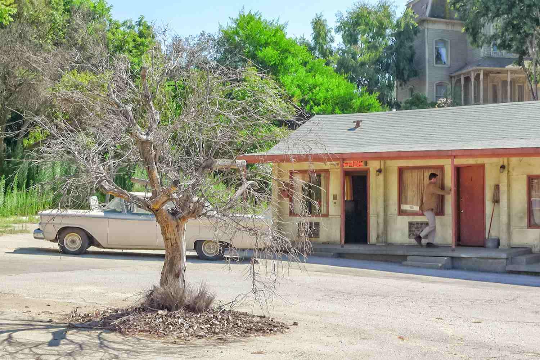 Norman Bates at the Bates Motel from Psycho, Universal Studios Hollywood