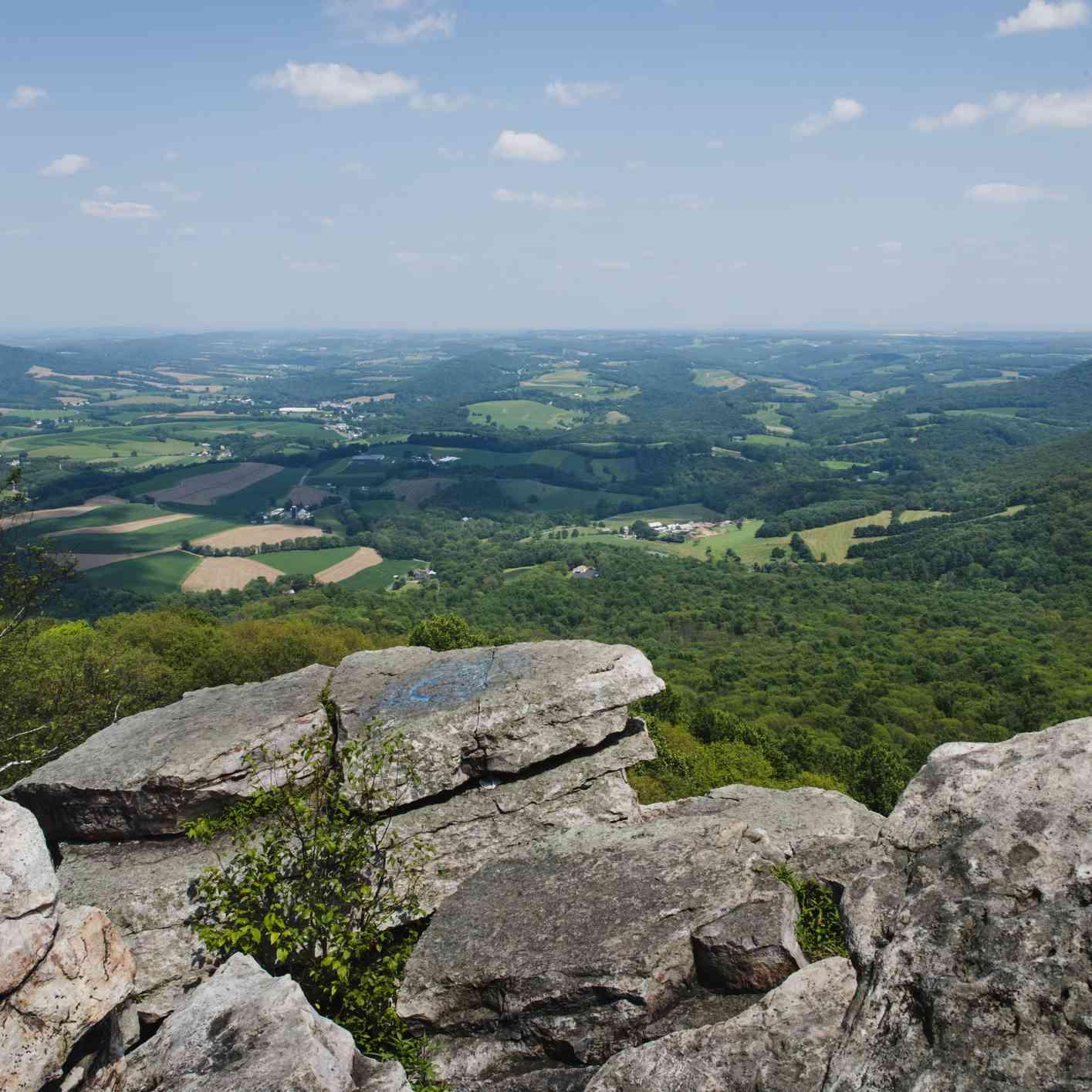 Pinnacle of the Appalachian trail in Pennsylvania