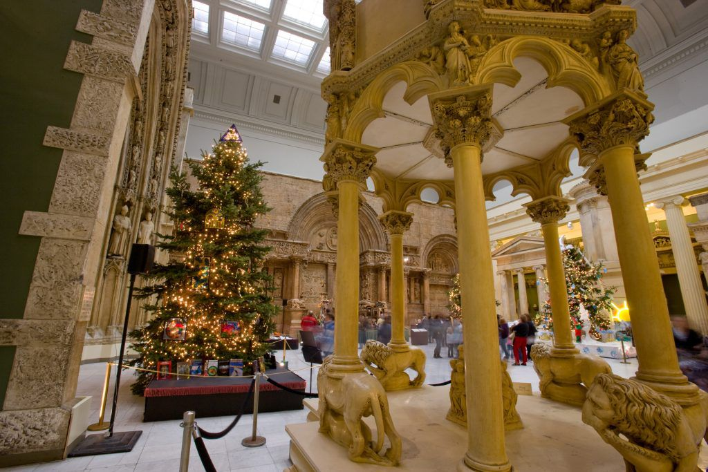 Christmas trees at the Carnegie Museum of Art
