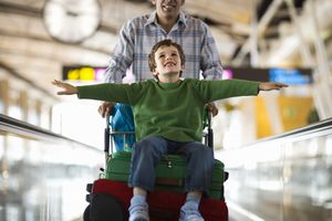 Child traveling airport