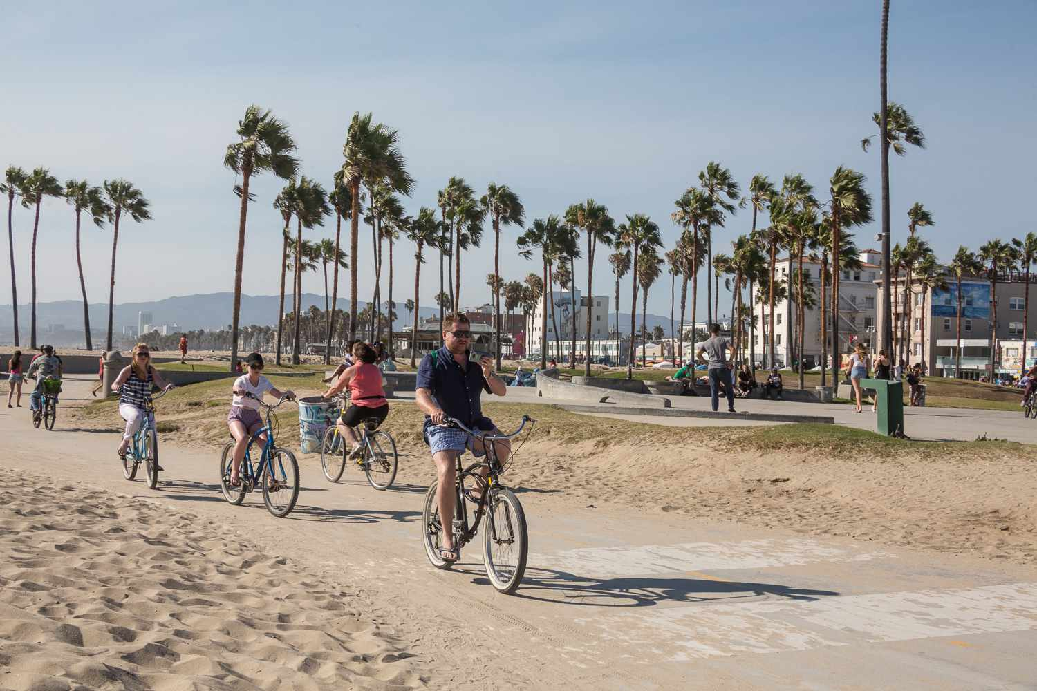 Venice Beach Bike Path Los Angeles Ca