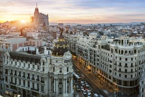 Madrid at Sunset