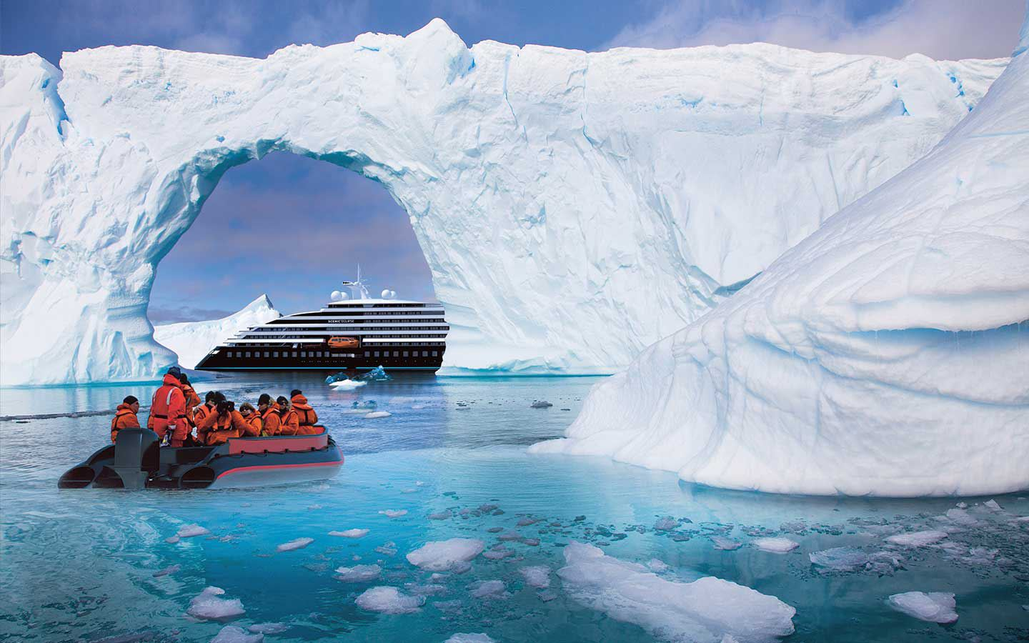 Scenic Eclipse Discovery Yacht in Antarctica