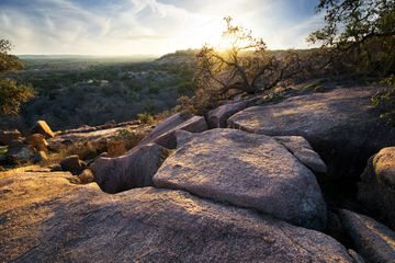 Sunset at Enchanted Rock State Park, Texas
