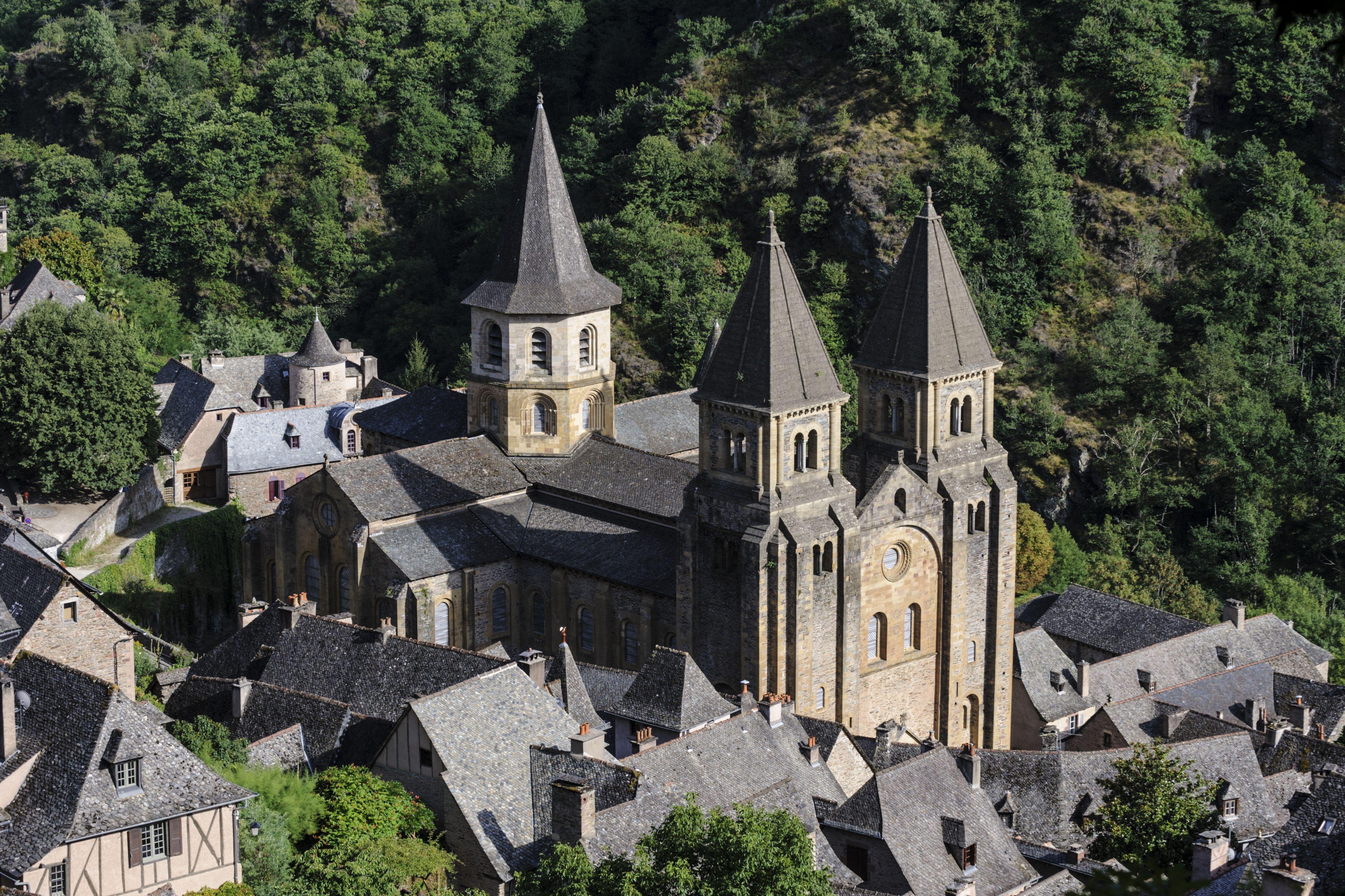 Sainte-Foy de Conques abbey church, Conques, Aveyron, France
