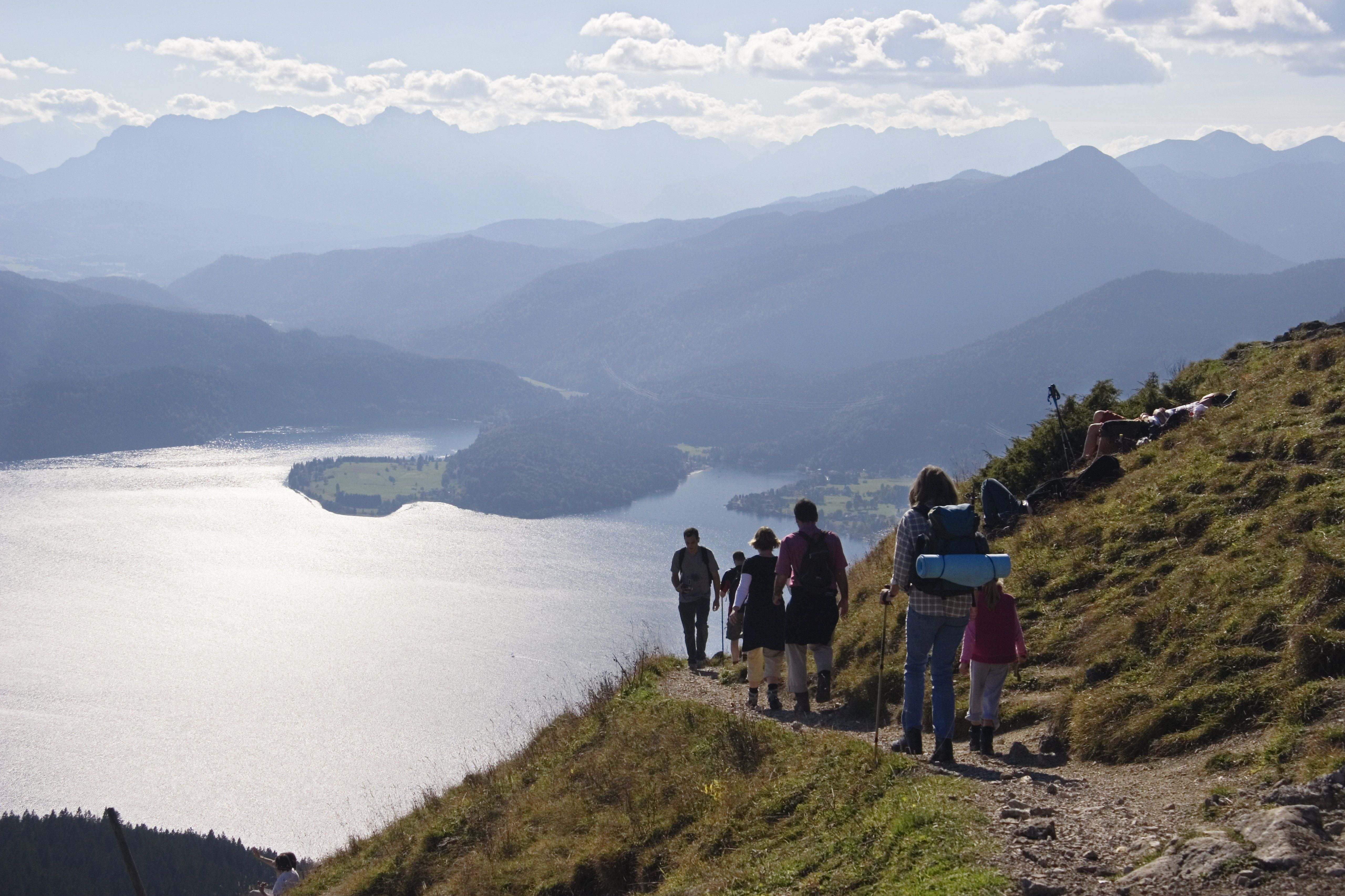 Hikers at Walchensee, Upper Bavaria
