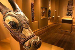 Exhibit inside the Honolulu Museum of Art