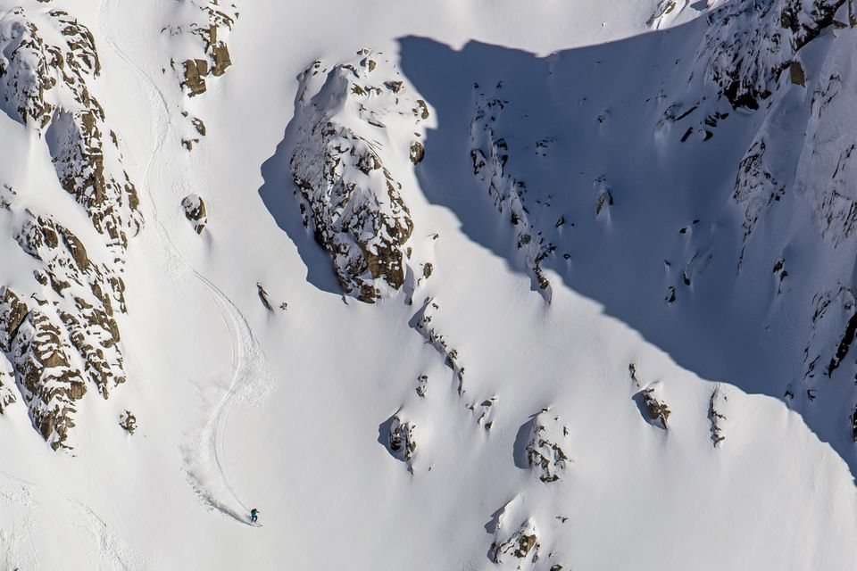 Backcountry skiiing near Cerro Catedral