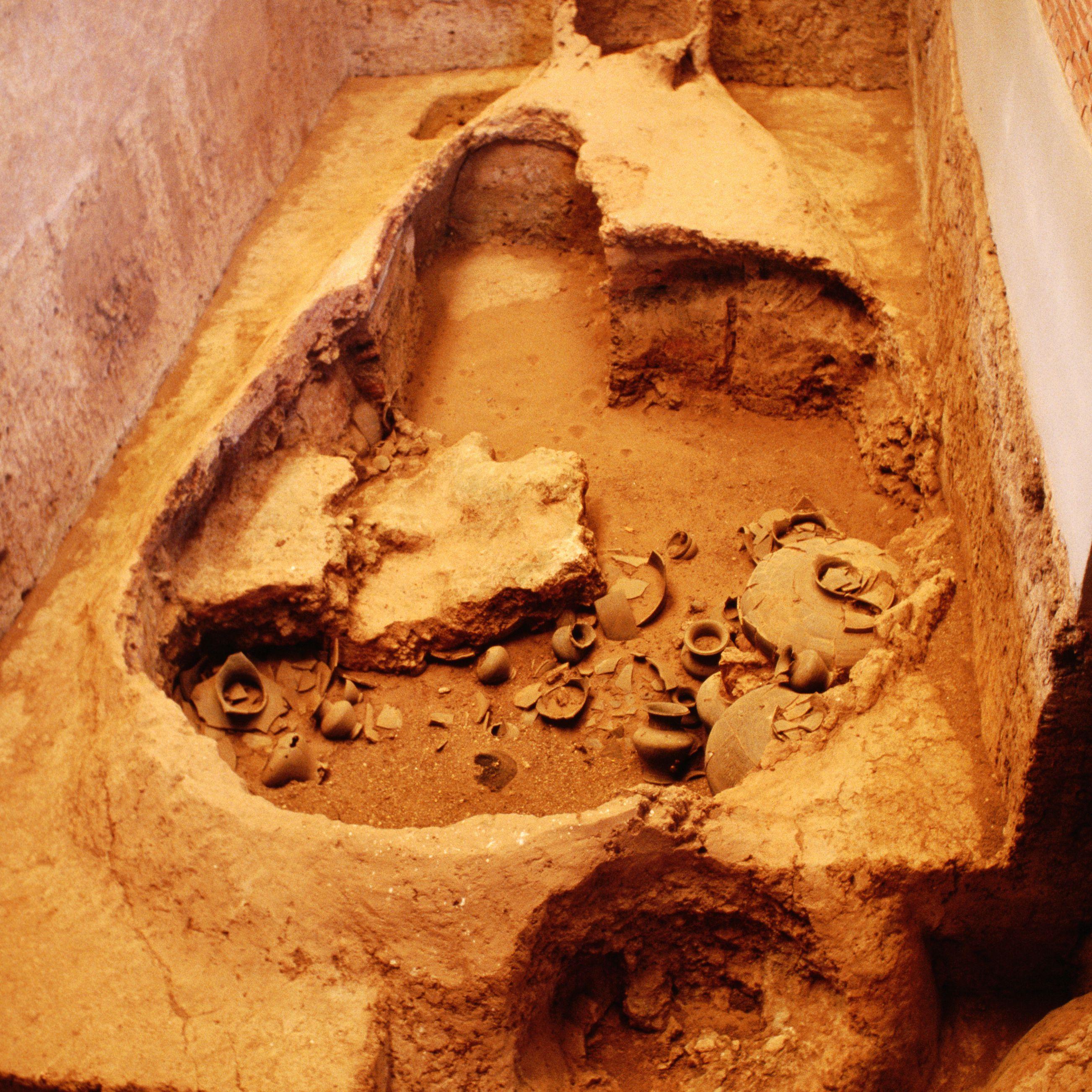 An ancient kiln in Si Satchanalai Historical Park