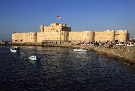 Qaitbay Fort from the Water, Alexandria, Egypt