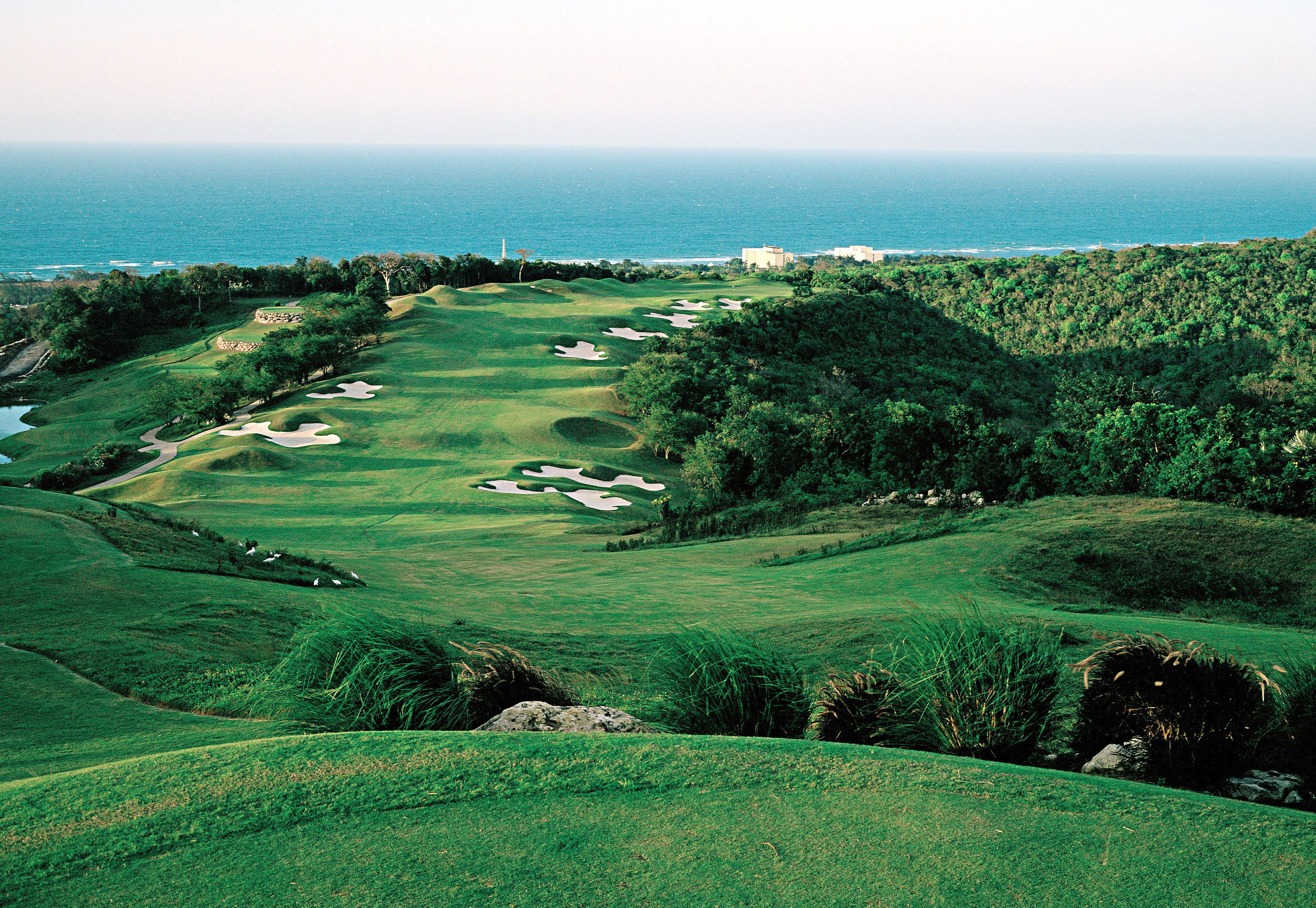 The first hole at White Witch Golf Club in Jamaica.