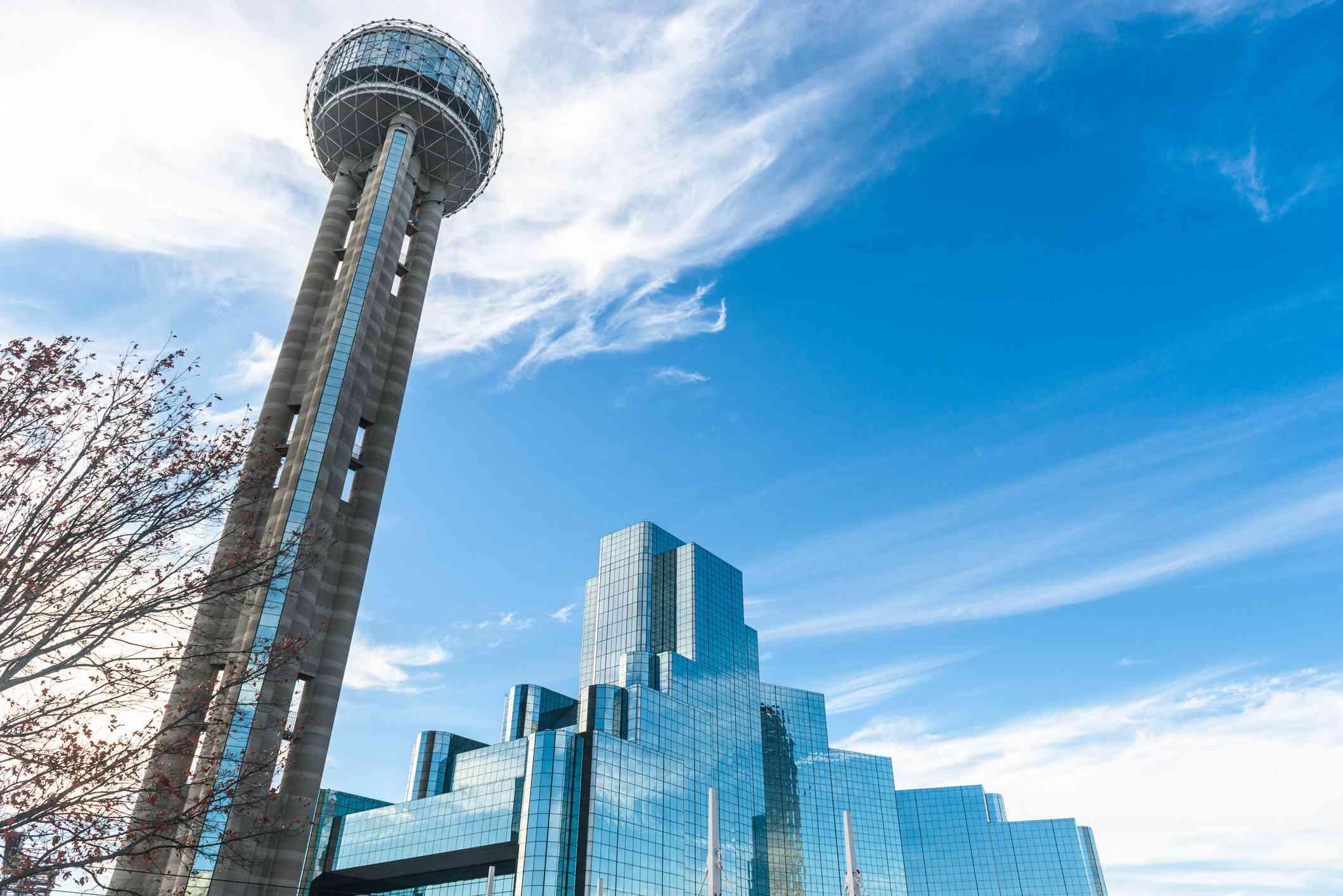 Dallas skyline with Reunion tower