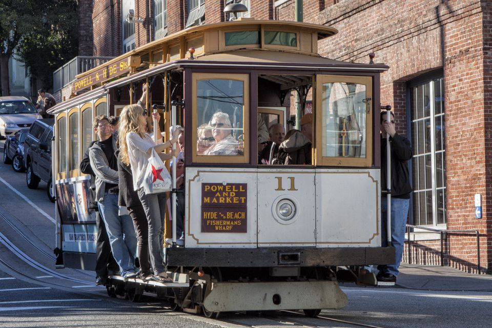 Riding a San Francsico Cable Car