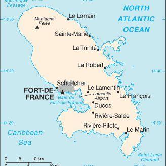 Caribbean Cruise Maps of Martinique