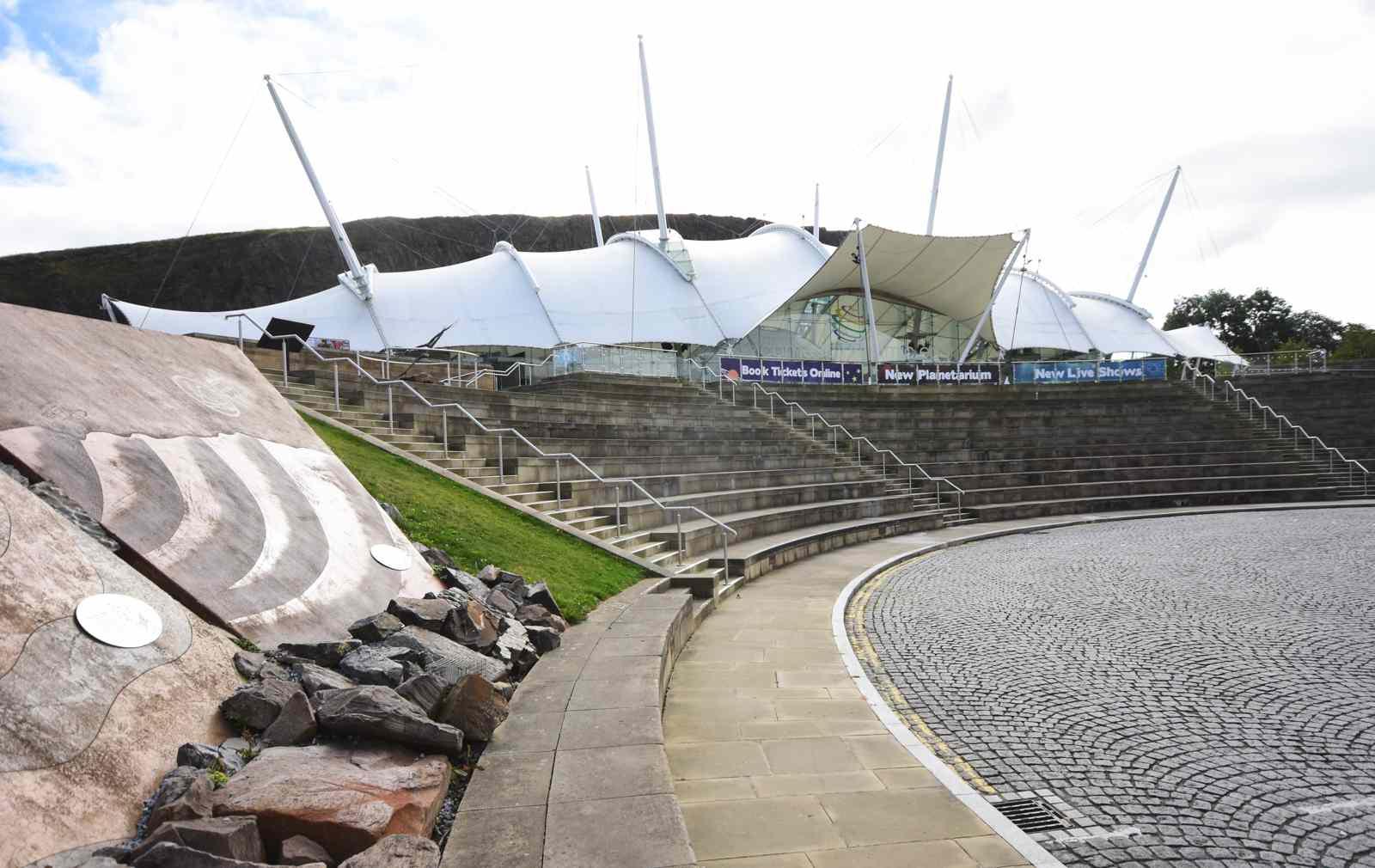 The Dynamic Earth Museum in Edinburgh, Scotland