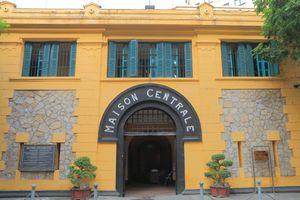 Entrance to Hoa Lo Prison, Hanoi, Vietnam