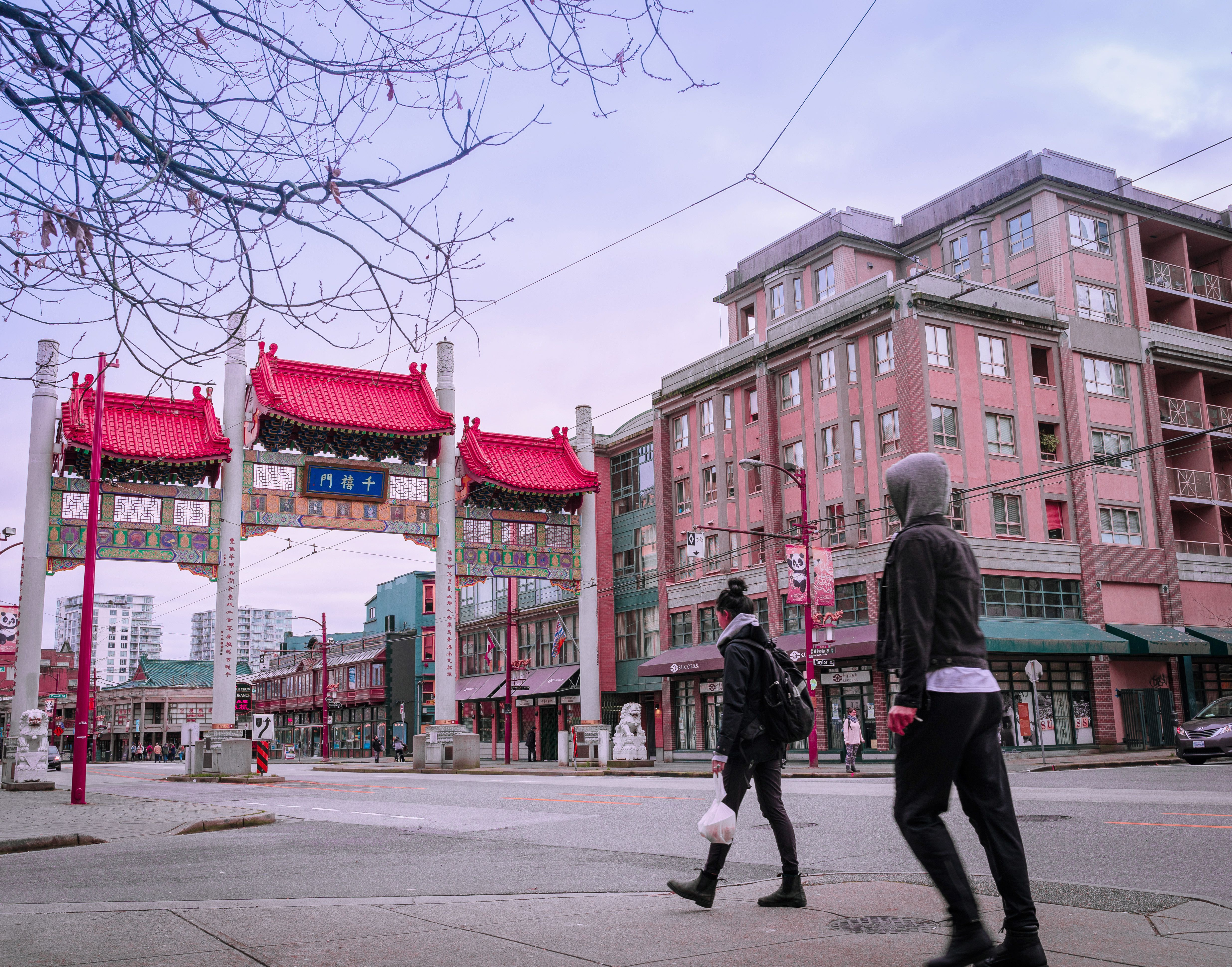 Traditional Architecture gate in china town