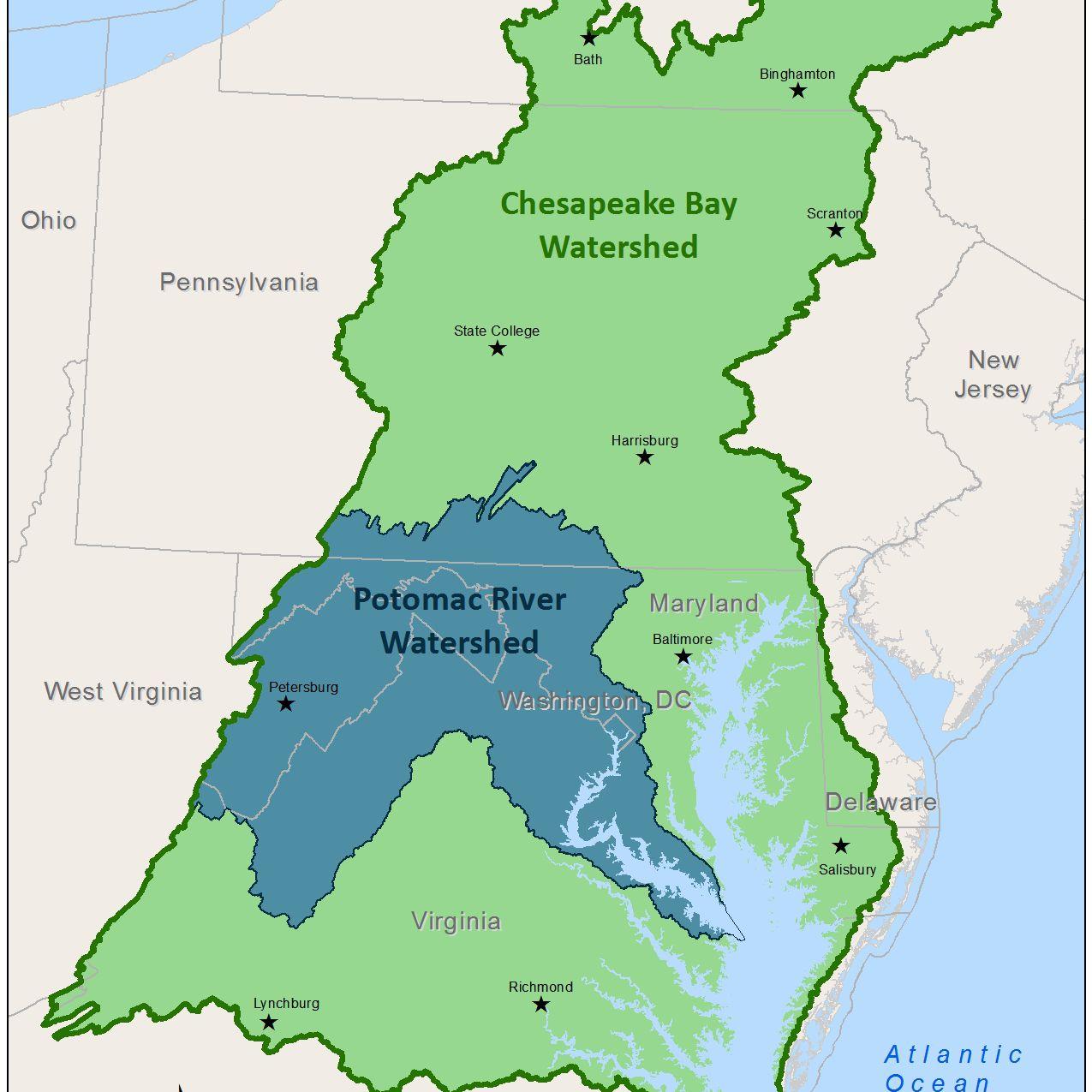 Potomac River On Us Map Potomac River Map