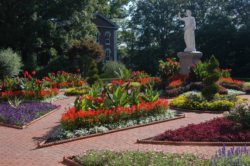 garden in the victorian district at missouri botanical garden - Missouri Botanical Garden Hours