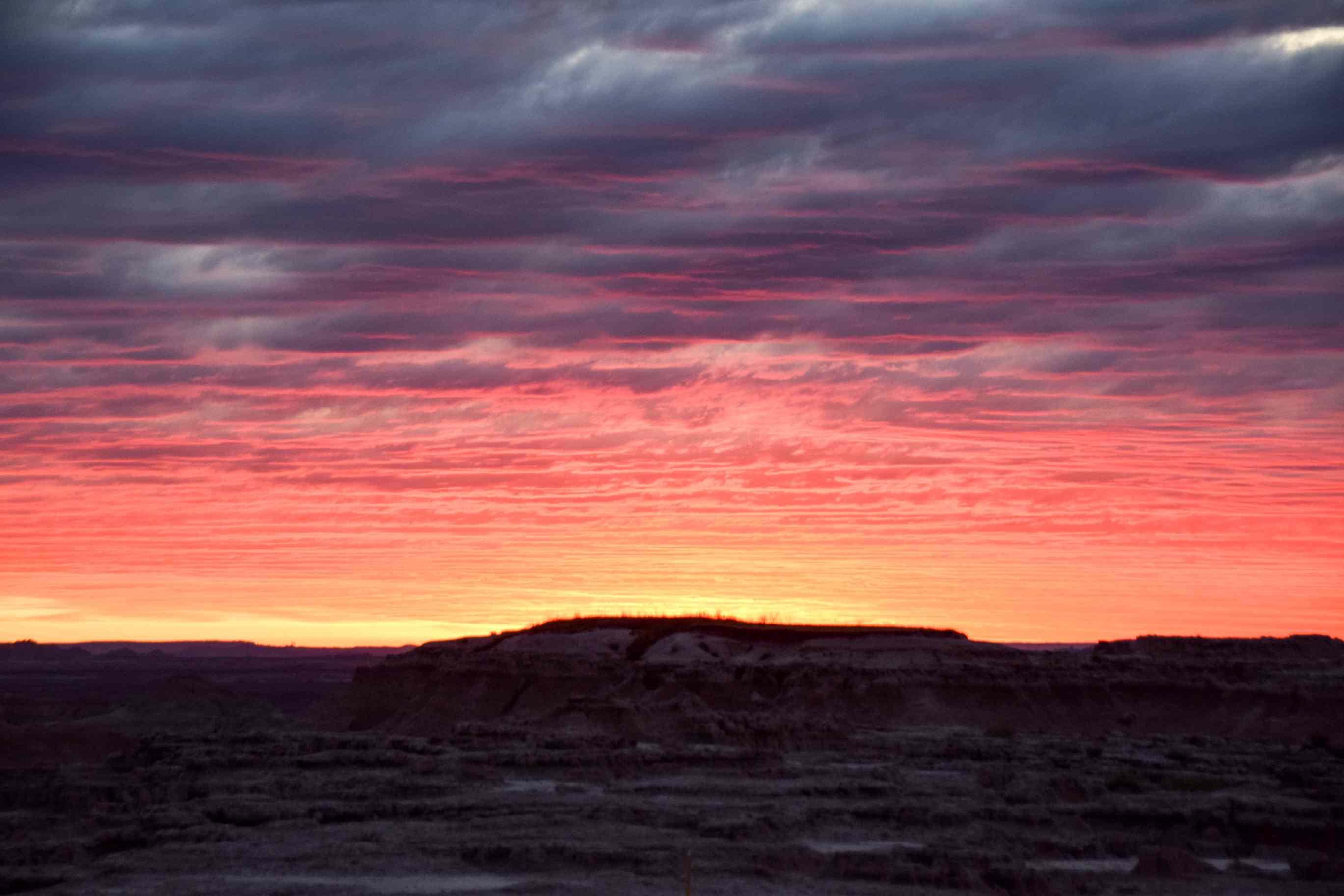 Sunset in Badlands National Park