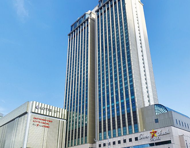 Low-angle view of a high rise building