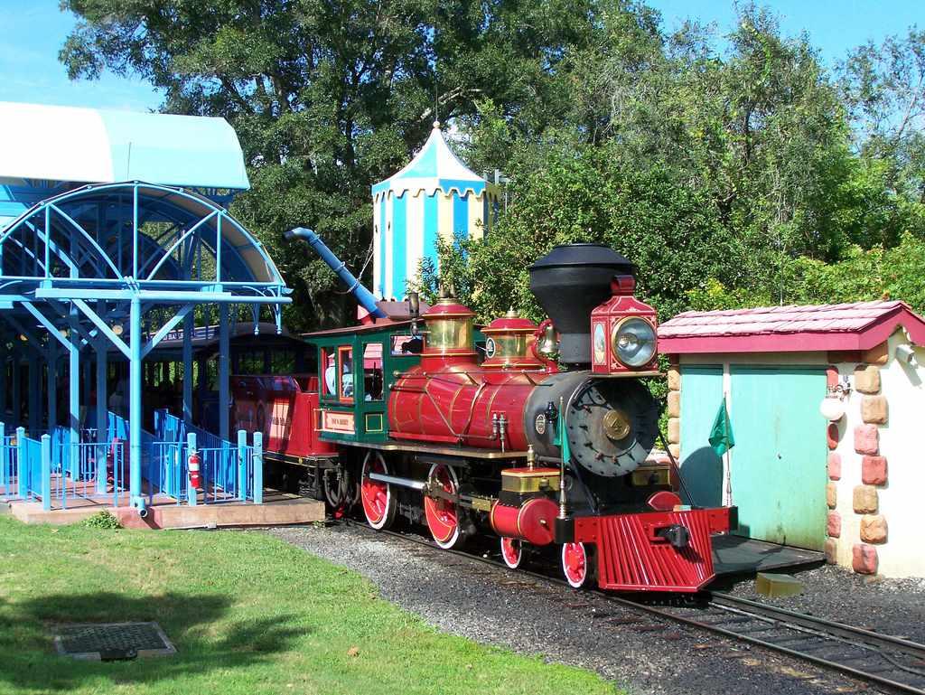 Railroad ride at Walt Disney World