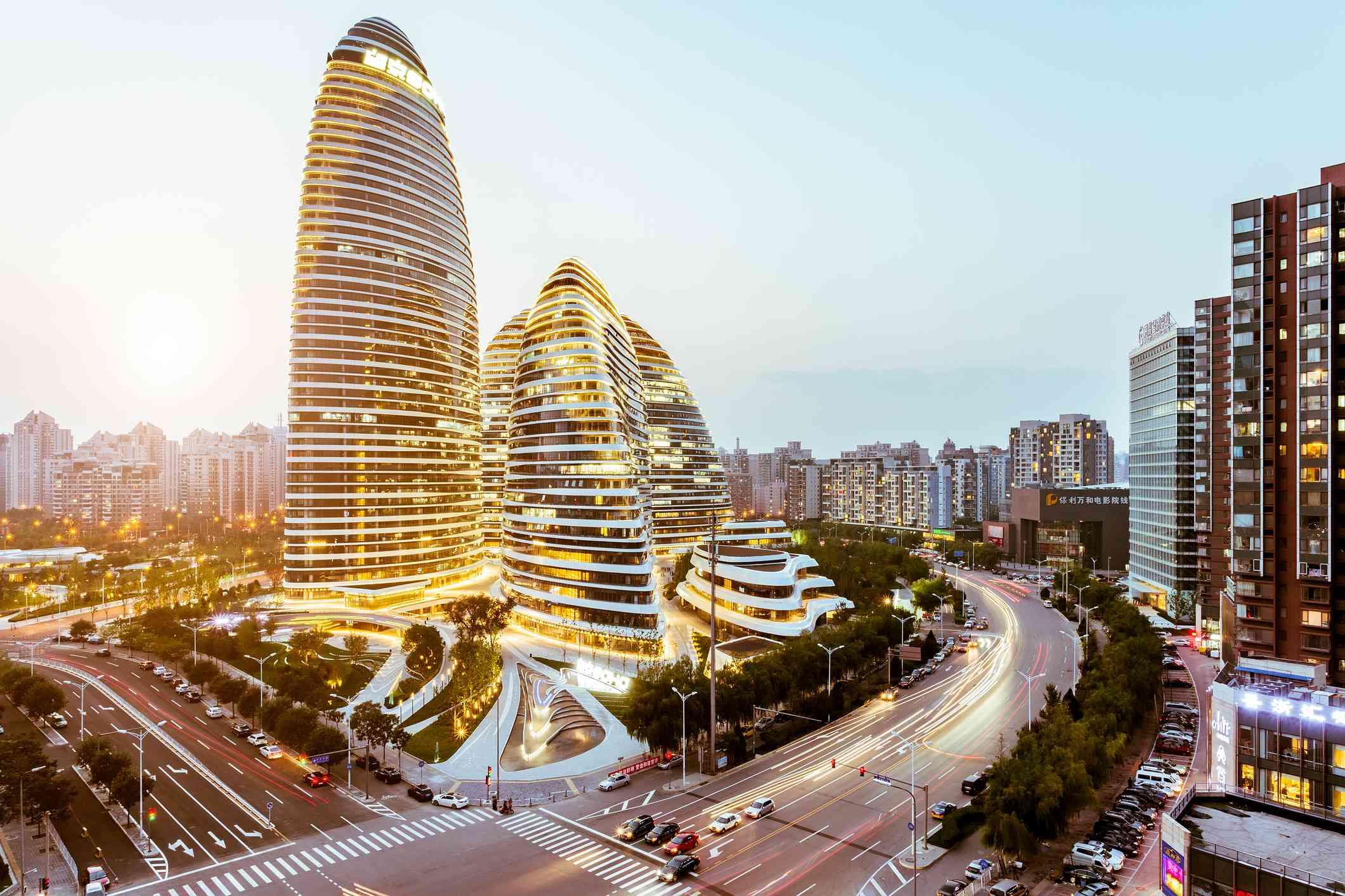 Wangjing SOHO in Beijing, China