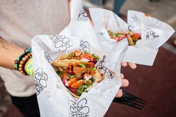 Tacos at the Lyon Street Food Festival, France