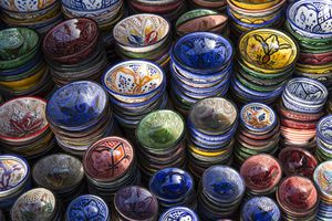 Painted Bowls for Sale, Marrakesh