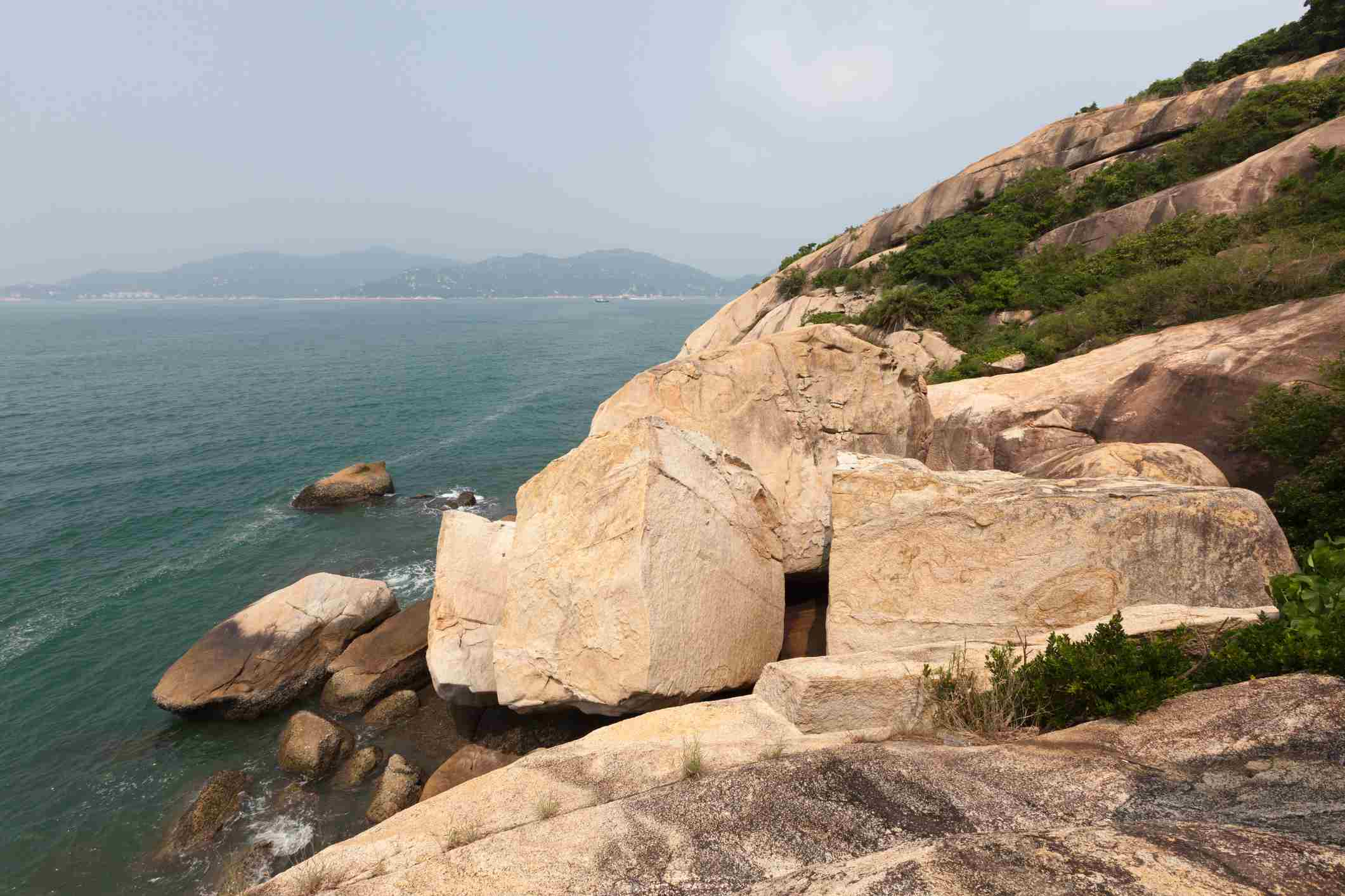 The Reclining Rock, A Rock Formation On The Island Of Cheung Chau, Outlying Islands