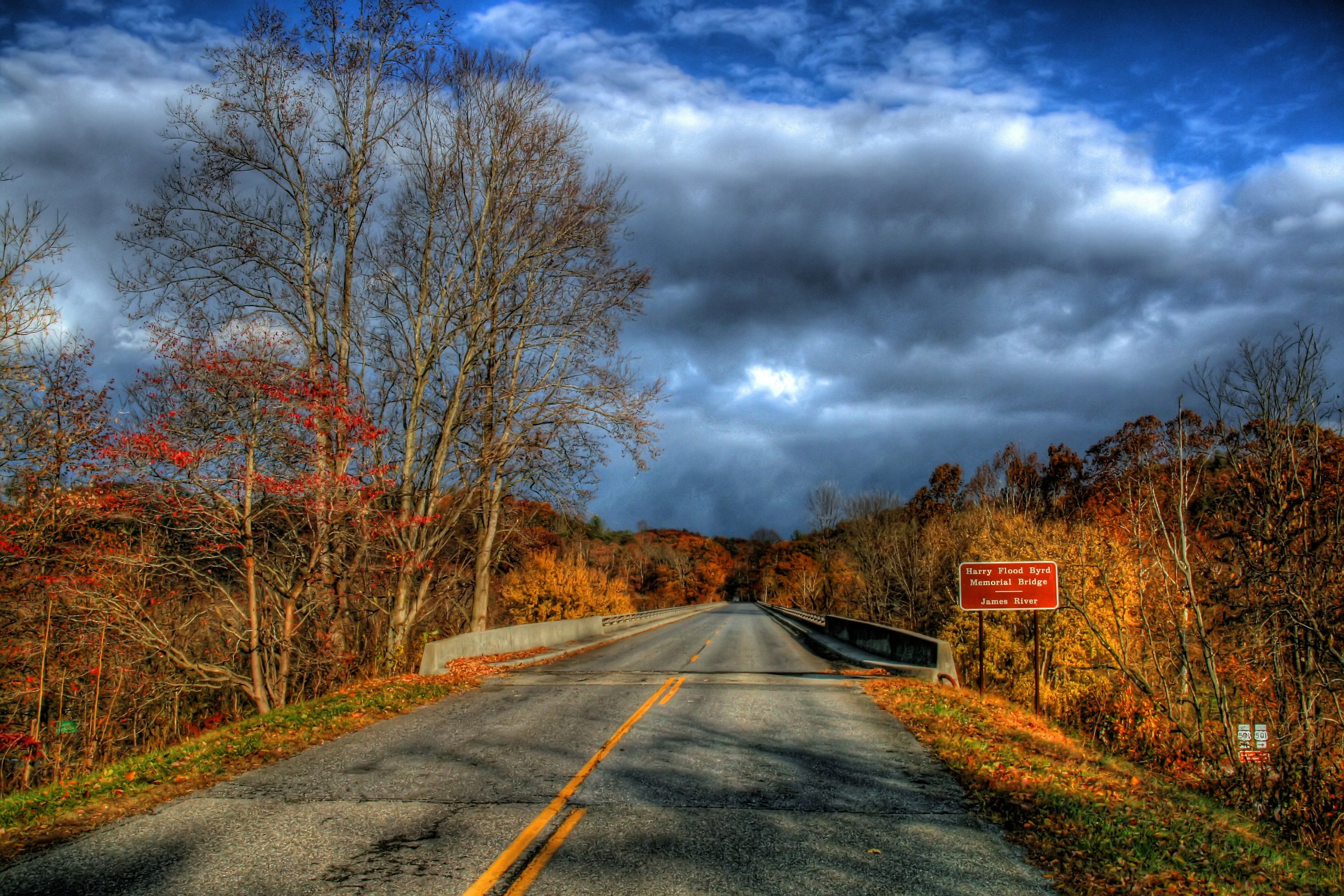 Storm moving on Blue Ridge Parkway Bedford County, Virginia,