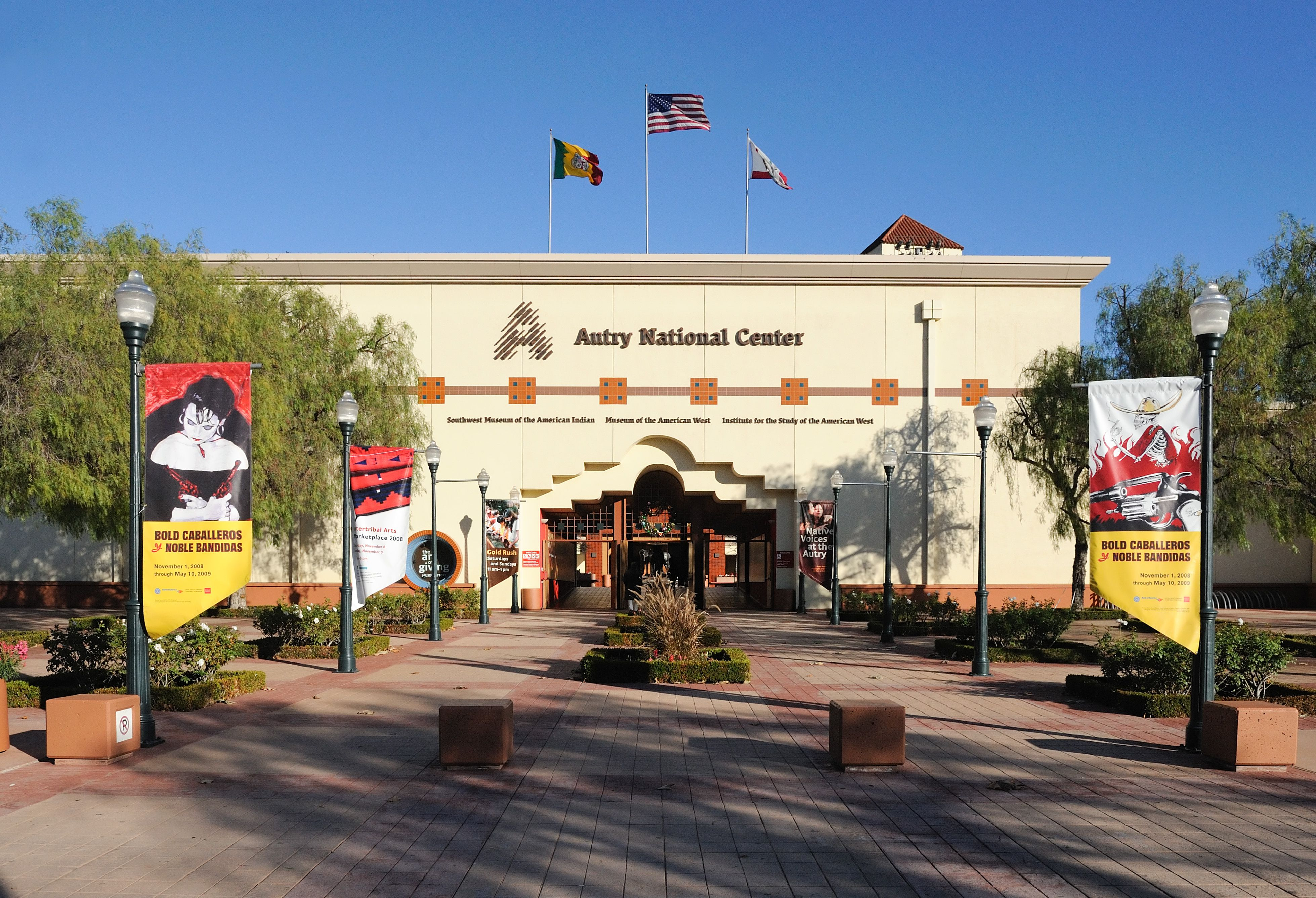 The Autry National Center, originally founded by Gene Autry, is now part of the Autry National Center, located in Griffith Park adjacent to the Los Angeles Zoo.