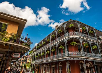 Architecture in historic French Quarter of New Orleans