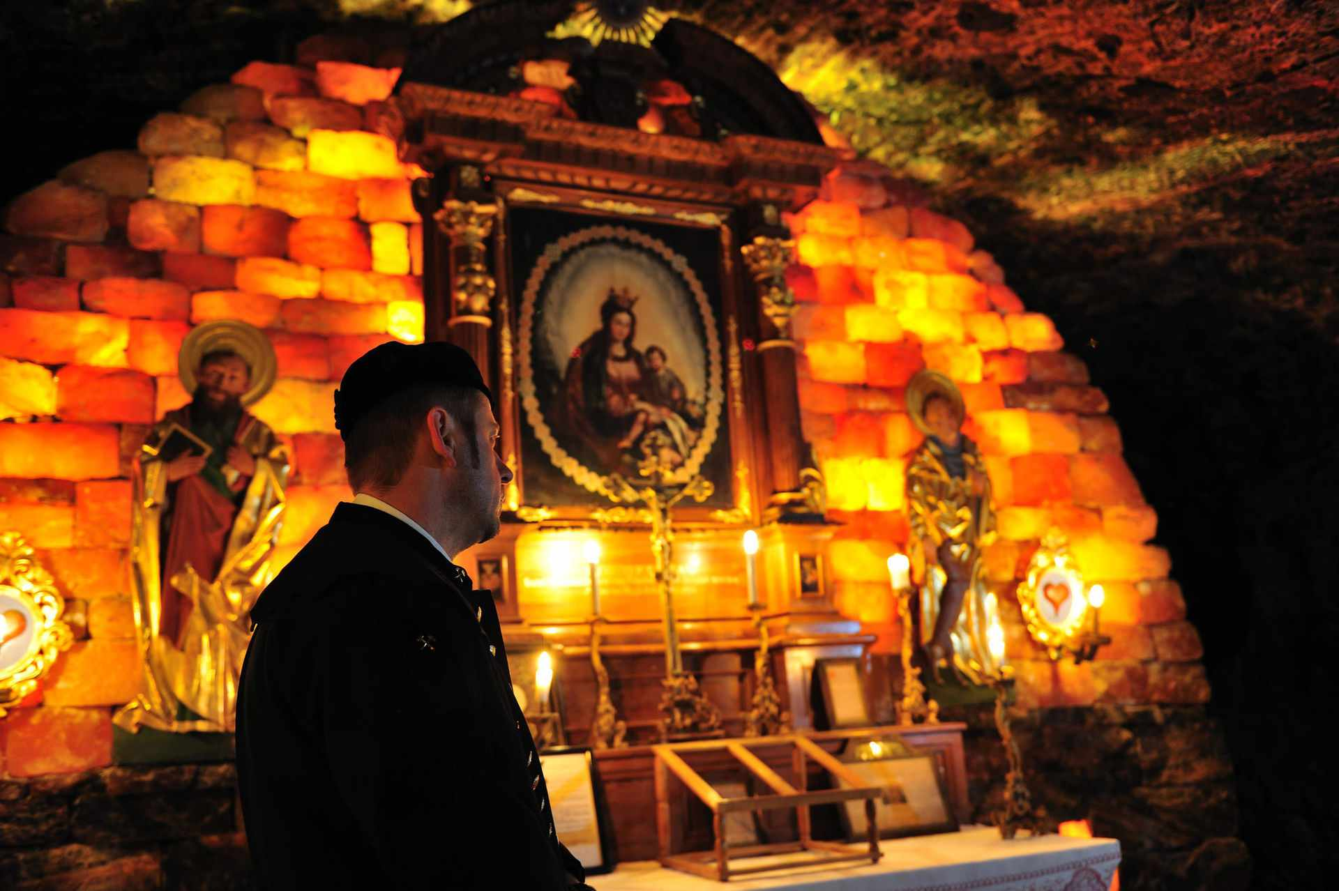 Picture of the Mystical St. Barbara's Chapel in the Altaussee Salt Mine