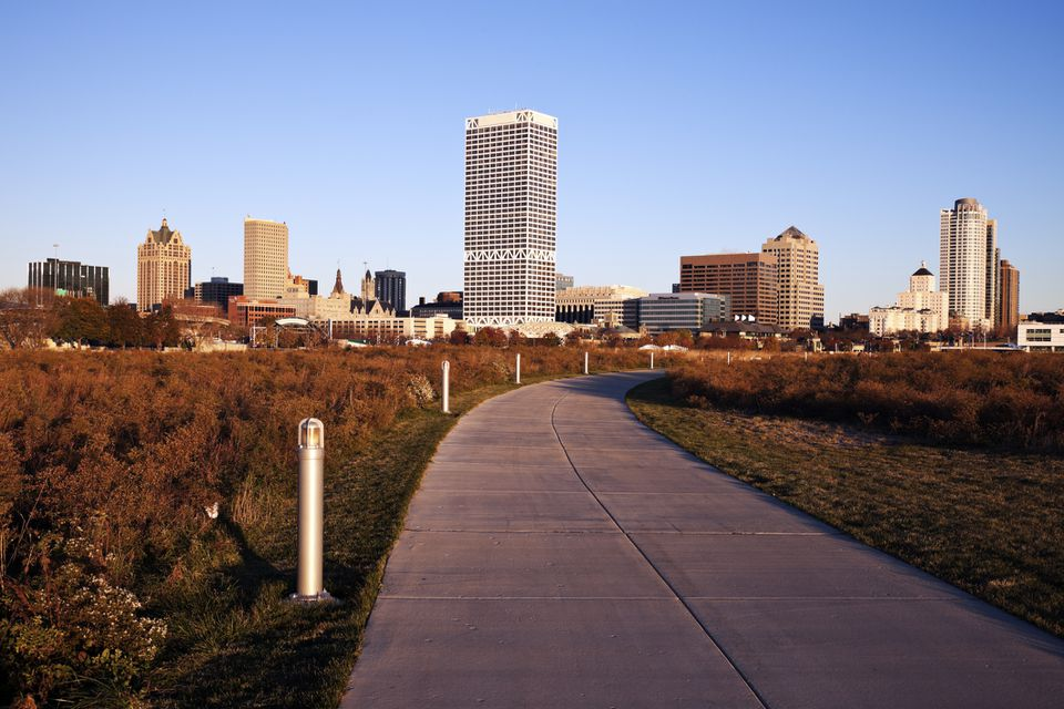 Jogging path in Milwaukee, Wisconsin.