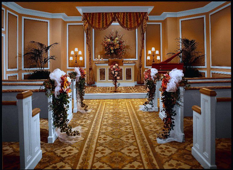 The Treasure Island Hotel Las Vegas Has An Elegant Chapel Thats Accented With Some Clic Features As Well A Few Modern Touches That Lend To